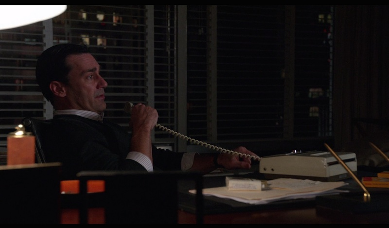 Don Draper Speaks Into A Dictaphone In Mad Men Season 5 Episode 8